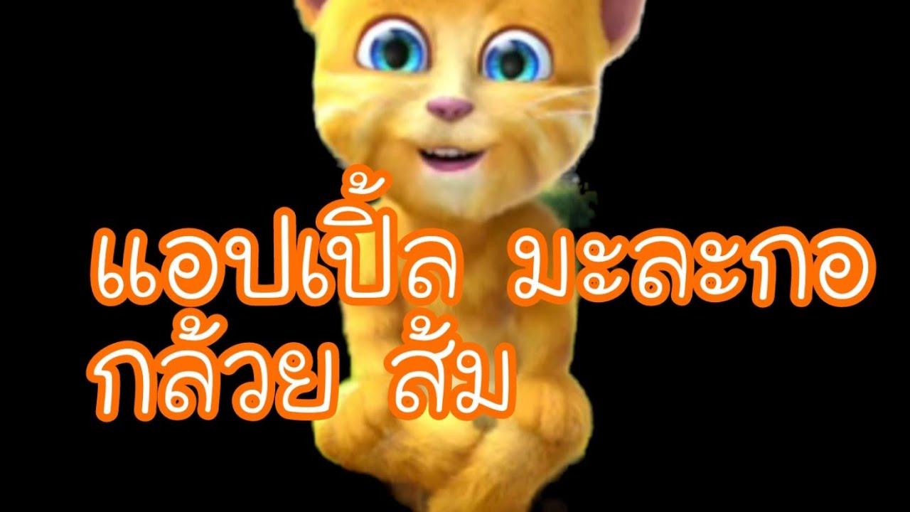 แอปเปิ้ล มะละกอ กล้วย ส้ม:แมวร้องเพลงTalking Ginger