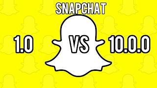 Snapchat version 1.0 vs 10.0.0! What a change!