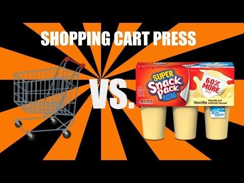 SHOPPING CART PRESS VS. PUDDING   MUST WATCH