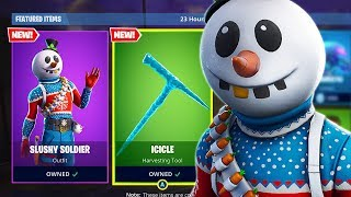 "Pro Console Player | NEW ""SNOWMAN"" Skin & ""ICICLE"" Axe Gameplay! (Fortnite Battle Royale)"