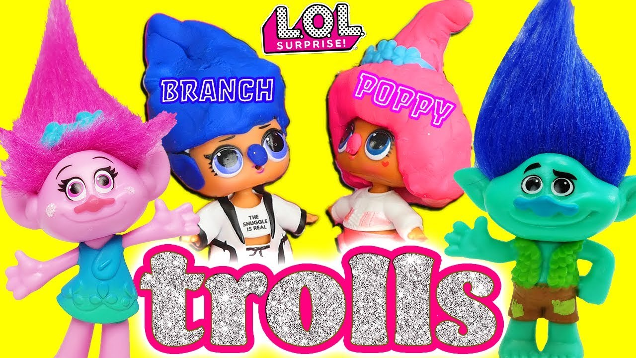 Lol Surprise Dolls Perform The Trolls Movie Starring Angel Foxy