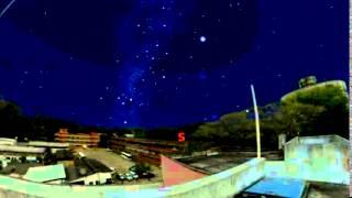 Simulação - Movimento das estrelas