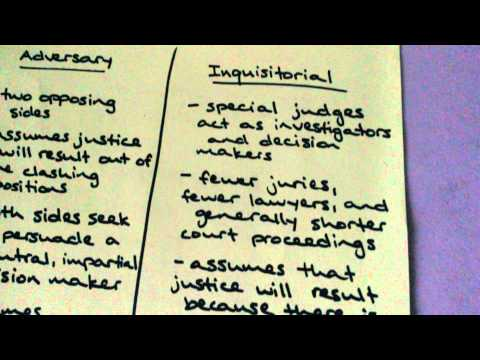 Adversary System vs. Inquisitorial System