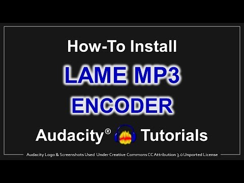 How To Install LAME MP3 Encoder In Audacity