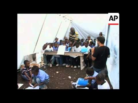 UNICEF opens tented school in the hills of Port-au-Prince