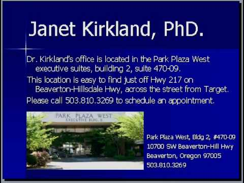 Beaverton & Portland Oregon Psychologist Janet Kirkland PhD
