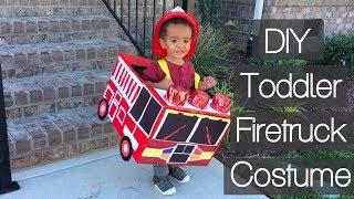 DIY: Toddler Halloween Firetruck Costume | Sweet Moments of Mine