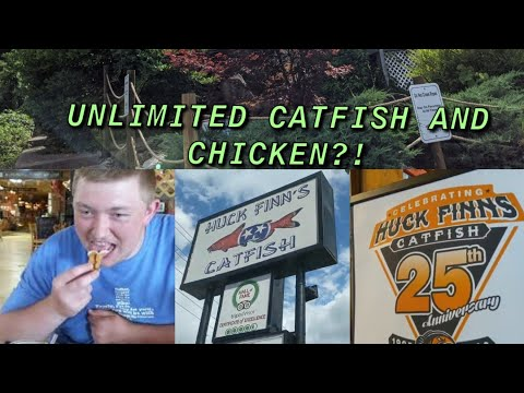 Huck Finn's Catfish Pigeon Forge, Tennessee (We Tried Deep Fried Bacon?!)