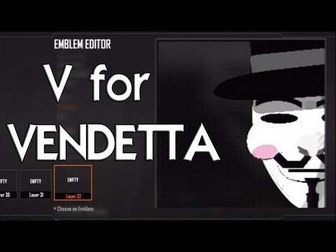 Black Ops 2 - V For Vendetta - ANONYMOUS Emblem Tutorial