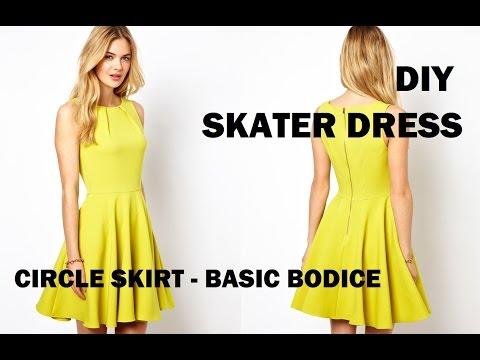 diy-|-how-to-make-a-skater-dress-(circle-skirt)-+-pattern-making