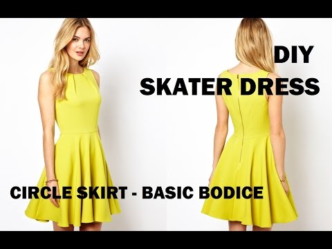 DIY | HOW TO MAKE A SKATER DRESS (CIRCLE SKIRT)