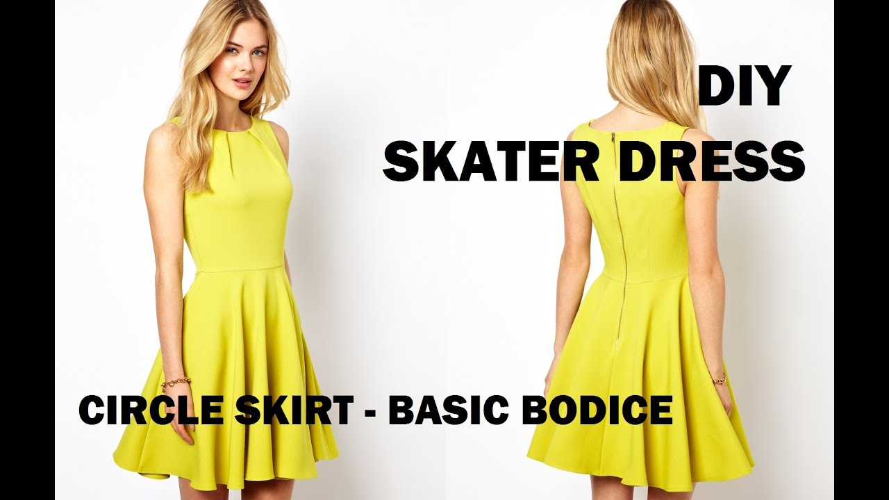 DIY | HOW TO MAKE A SKATER DRESS (CIRCLE SKIRT) + PATTERN MAKING ...