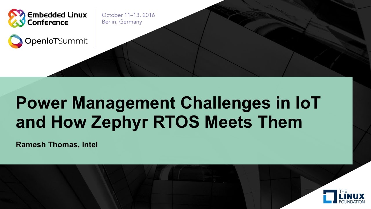 buy popular 49648 5c4f4 Power Management Challenges in IoT and How Zephyr RTOS Meets Them - YouTube