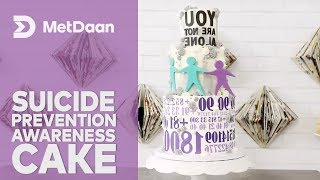Cakes for a Cause with MetDaan x Koalipops | Suicide Prevention Awareness Cake