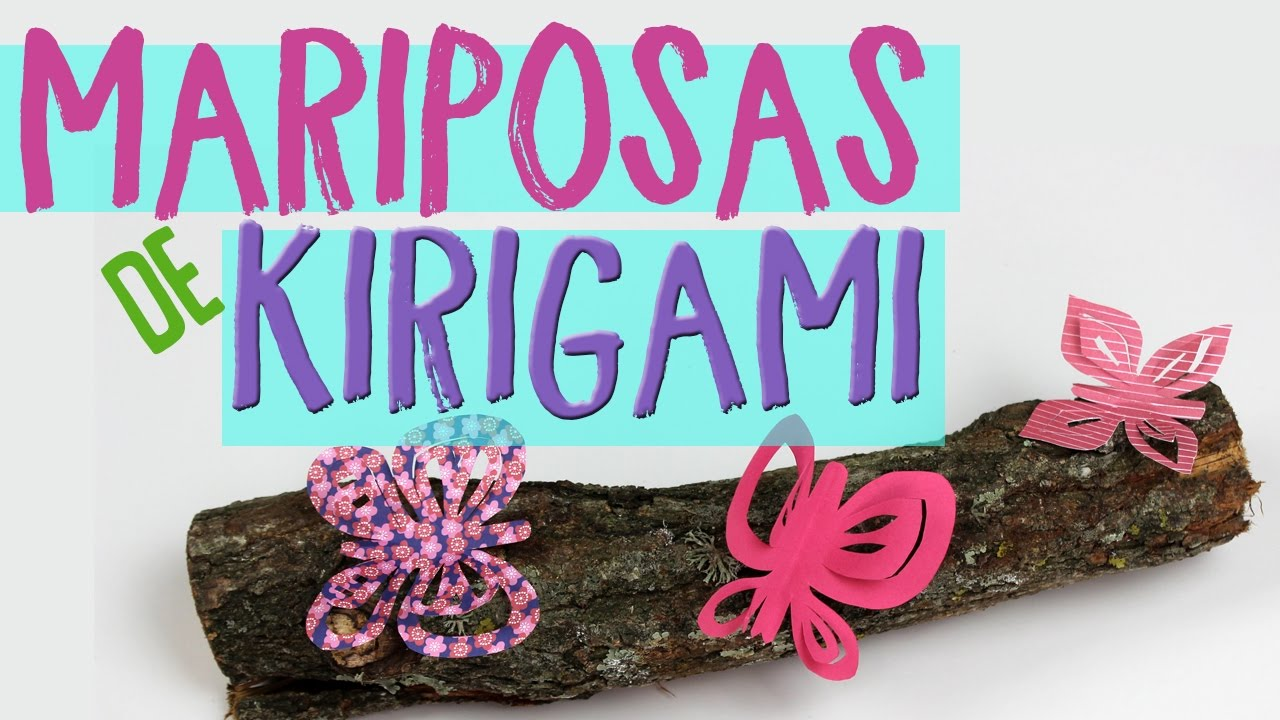 Aprende a hacer 3 mariposas de kirigami! ¿Plantilla de mariposas de ...