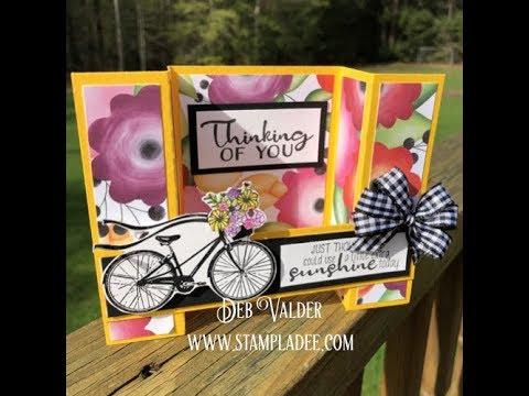Pop Up Bridge Card Fun Stampers Journey with Deb Valder