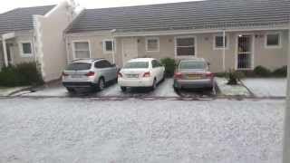 Hail in Pinelands, Cape Town. 2 June 2013 @ 14:35