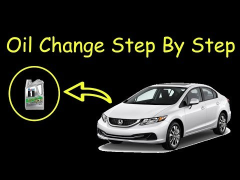 How to change oil step by step - 2013 Honda Civic