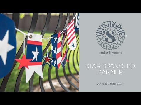 Patriotic Banner | DIY Crafts | Star Spangled Banner | Craft Kits | Apostrophe S