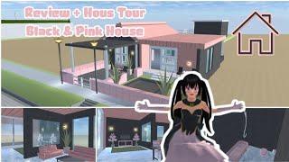 REVIEW & HOUSE TOUR BLACK & PINK HOUSE    REVIEW AGAIN IN SAKURA SCHOOL SIMULATOR