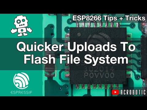 ESP8266 Web Server Upload Files Quick To SPIFFS Flash Memory