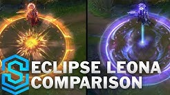 Solar vs Lunar Eclipse Leona Comparison | League of Legends