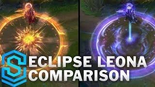 Solar vs Lunar Eclipse Leona Comparison | League of Legends