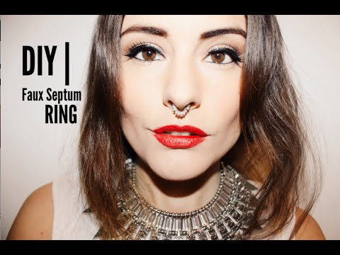 DIY | Faux Septum Ring