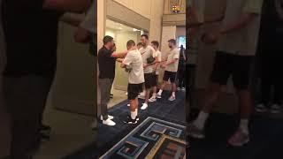 Andres Iniesta And David Villa Meets their former teammates in Japan   Vissel kobe vs Barcelona