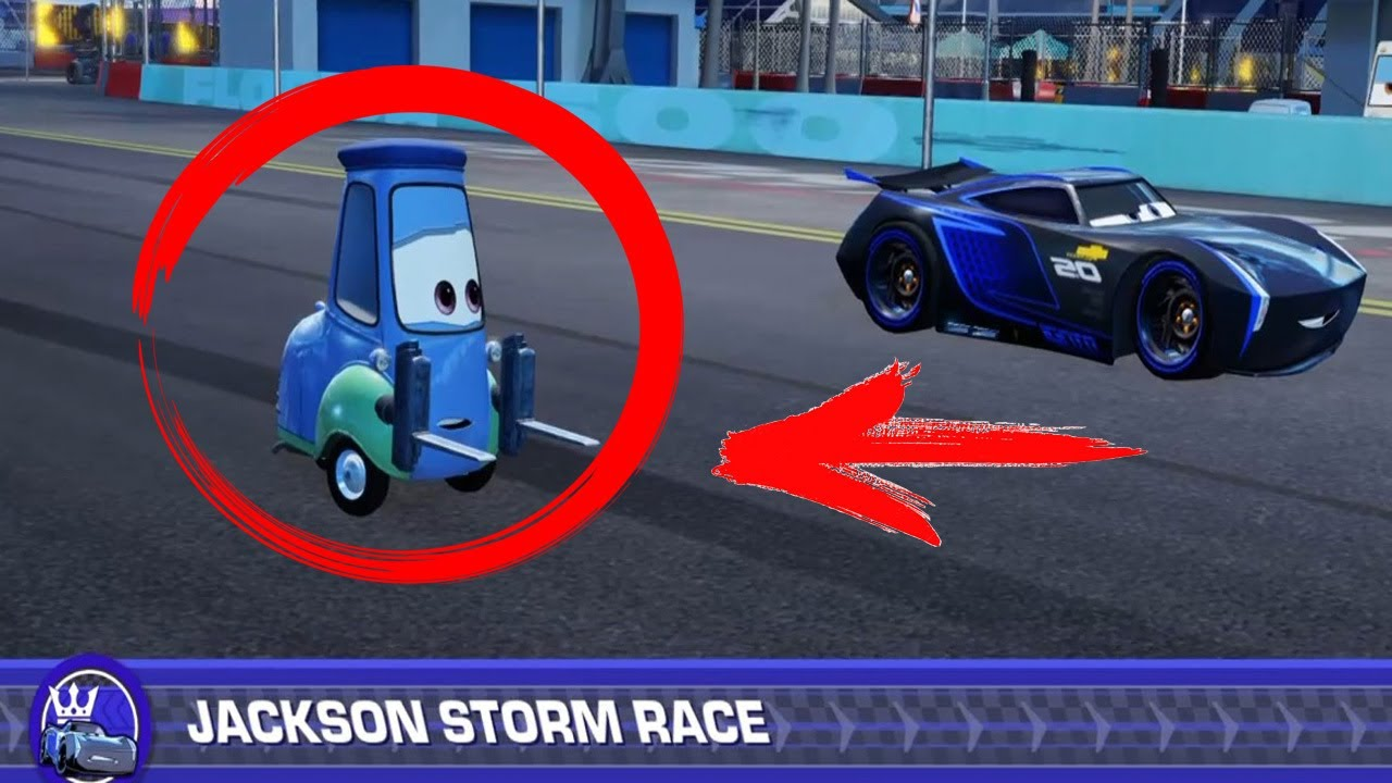 Cars Toon English Guido Vs Jackson Storm Race Kids Movie