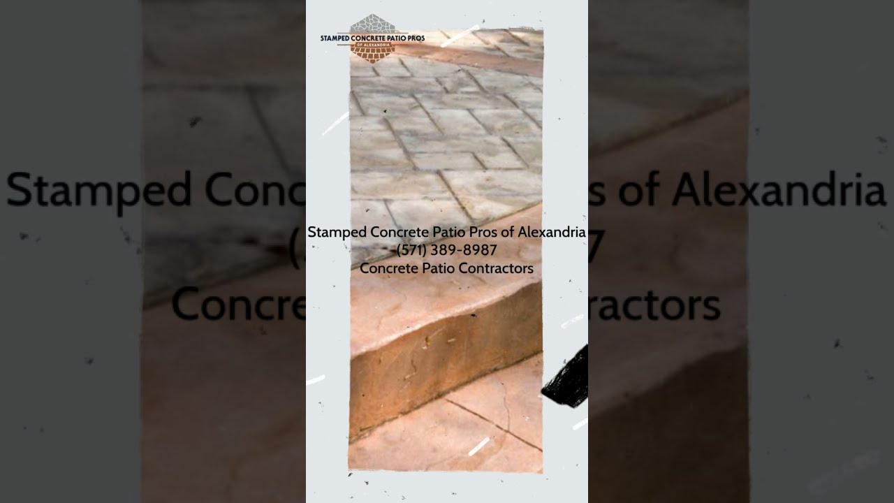 stamped concrete patio pros of
