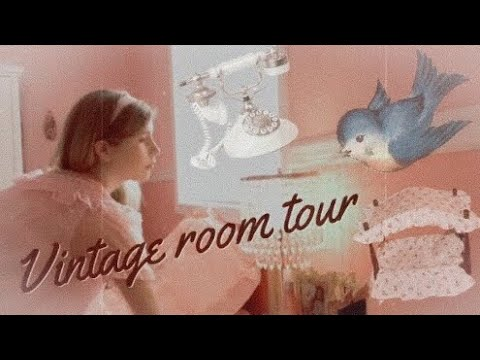 Vintage Room Tour/ Girly Bedroom Decor Inspiration/ Night Routine
