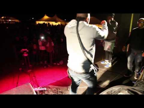 SA Artists on stage at Hipnotik fest in Swaziland after performances