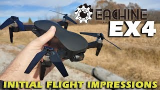 Eachine EX4 Aurora (JJRC X12, C-FLY Faith) 3-axis Gimbal GPS Drone Initial Flight Impressions
