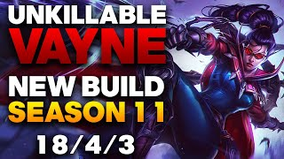 Vapora Dark Vayne ADC Gameplay - New Season 11 Unkillable Vayne Build | League of Legends