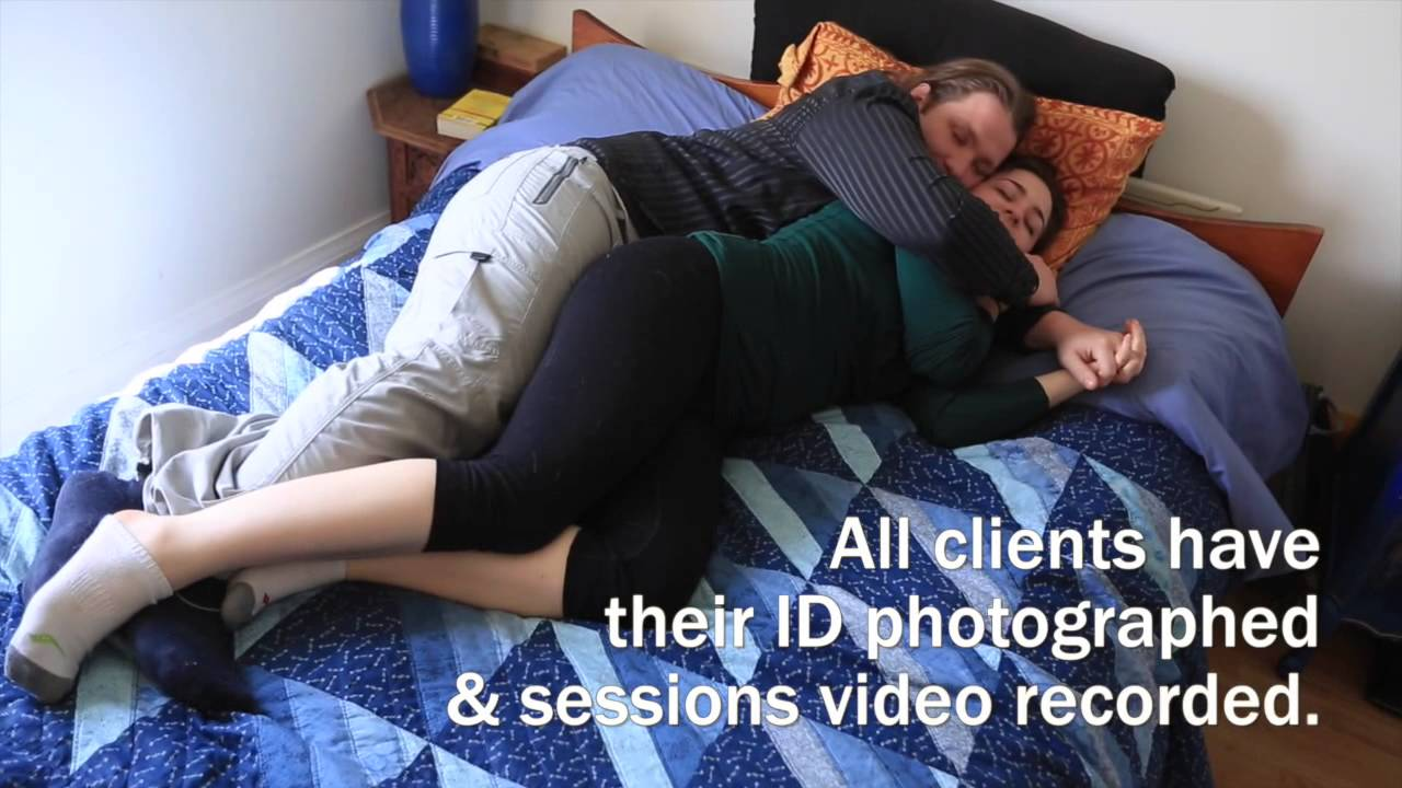 This couple works as cuddlers for the paid cuddle service The Cuddlery