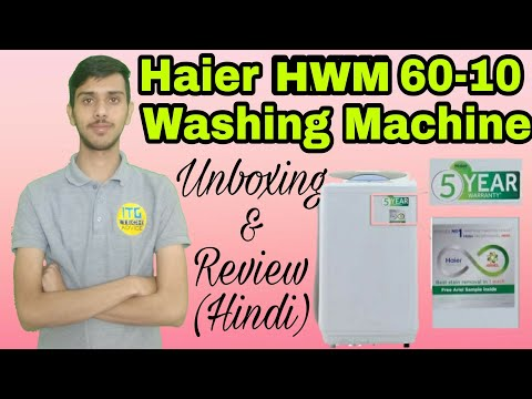 Haier 6 kg Fully Automatic Top Load Washing Machine White  (HWM 60-10) Unboxing & Reviwe || ITG