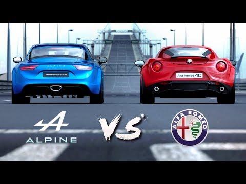 Alpine A110 VS Alfa Romeo 4C | Drag Race #5 (Gran Turismo Sport)