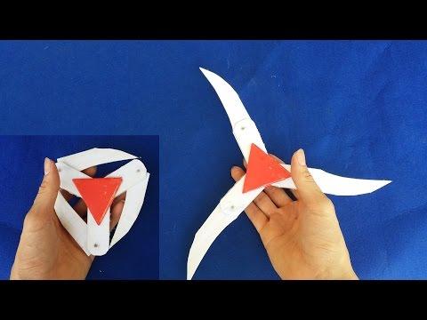 Как сделать бумажный ниндзя звезды | сюрикен