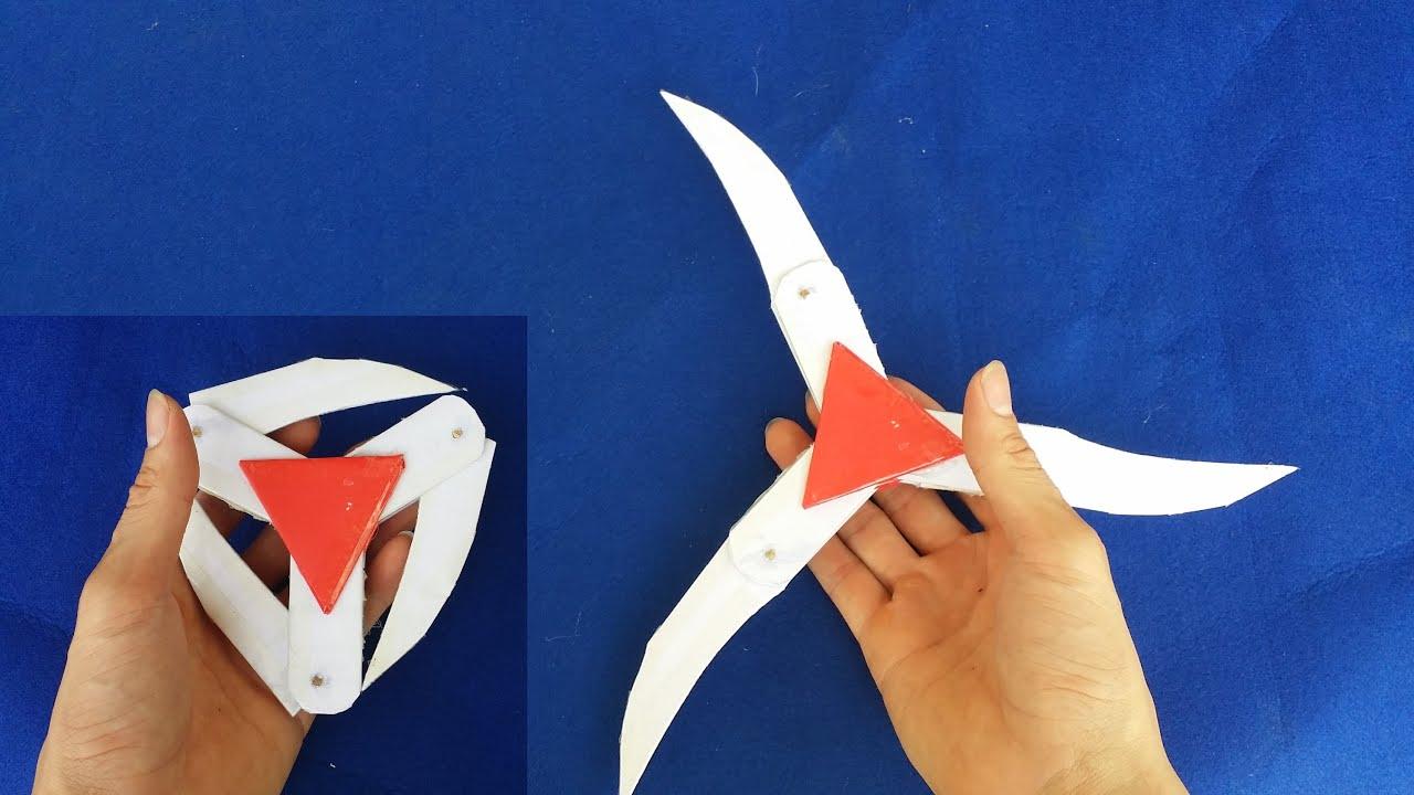 Как сделать бумажный ниндзя звезды | сюрикен - YouTube