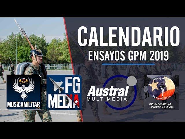 CALENDARIO ENSAYOS GRAN PARADA MILITAR CHILE 2019