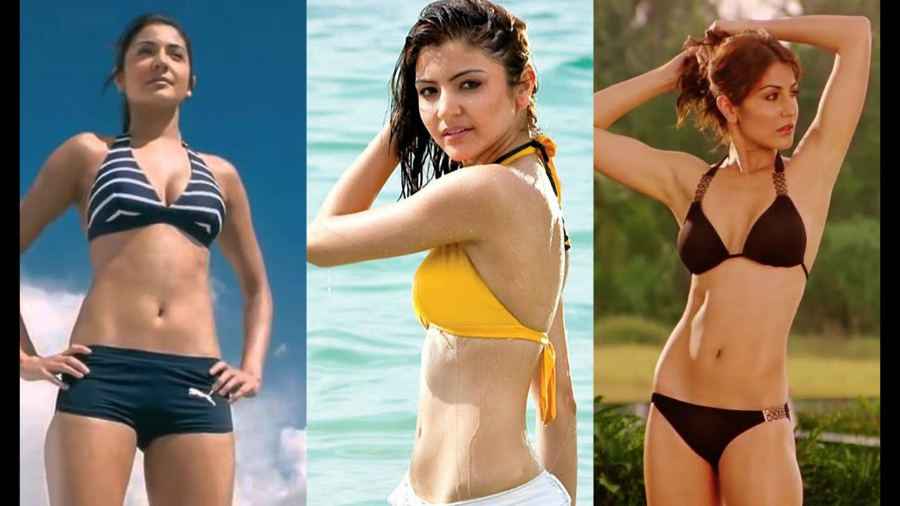 anushka sharma hot bikini compilation - youtube