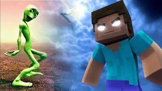 YEŞİL UZAYLI BLOKLARI VS HEROBRINE (Minecraft)