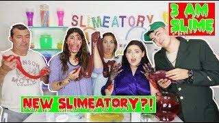 3 AM SLIME CHALLENGE! NEW SLIMEATORY?!! SUPER CRAZY!! Fishbowl slime at 3am!