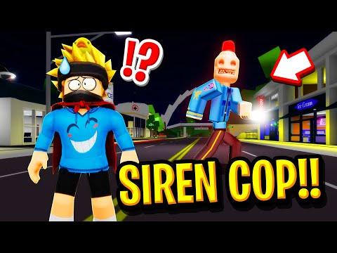 We FOUND SIRENCOP in Roblox BROOKHAVEN RP!! (Scary)