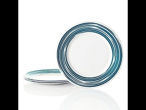 Strokes of Color Set of 4 Premier Dinner Plates