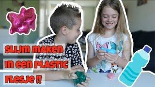 SLIJM MAKEN IN EEN PLASTIC FLESJE - BOTTLE SLIME !! - Broer en Zus TV VLOG #161