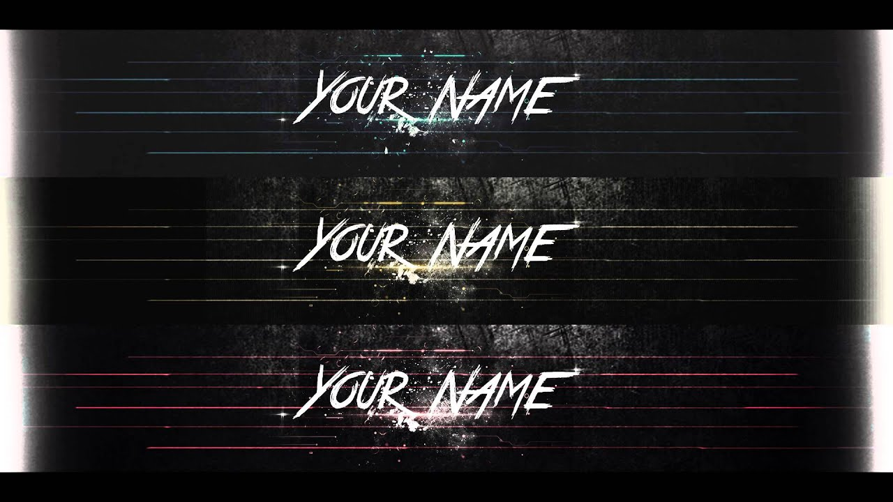 Youtube banner template - YouTube