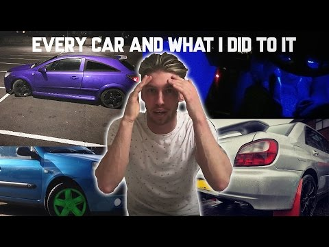 Every Car i Have Owned Since i Passed My Test