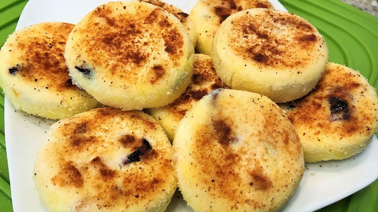 СЫРНИКИ ДИЕТИЧЕСКИЕ без манки и муки, на сухой сковороде. Dietary Cheese Fritters.